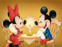 Romantic Minnie and Mickey Mouse