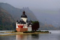 Island and Castle Pfalzgrafenstein  Germany