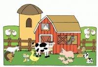 animales de granja dibujos
