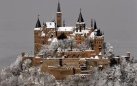 Castle Hohenzollern  in Winter  Stuttgart Germany