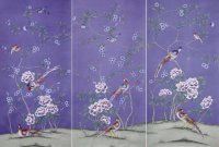 Elegant Hand Painted Chinoiserie Wallpaper