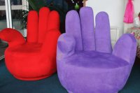 Red and Purple Hand Chairs