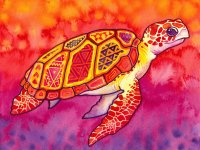 Abstract Turtle painting