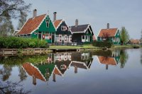 Houses in the Zaanstreek  the Netherlands
