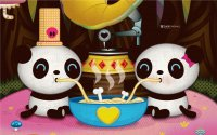 Panda 's eating Noodles