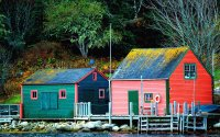 Fishing Village Blandford  Nova Scotia  Canada
