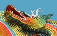 Dragon on a Chinese Temple