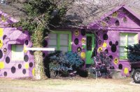 Purple House with Smiley Faces-Lubbock,TX