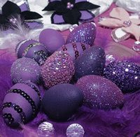 Purple Beaded Egg Decorating-Craft
