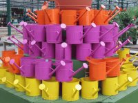 Purple and Other Colorful Watering Cans