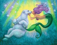 Mermaid and polar Bear