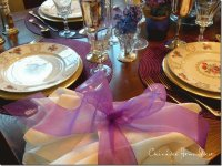 Elegant Purple Dining Table Setting