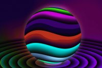 Wavy Sphere abstract