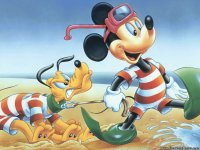 Mickey Mouse goes Snorkeling