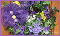 Beautiful Easter Door Wreath