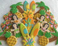 Luau party Cookies  Hawaii