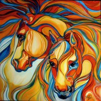 Horses abstract