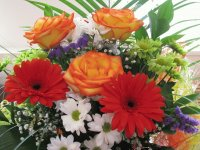 Bouquet Roses and Gerberas