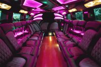 Interior of Purple Party Limosine