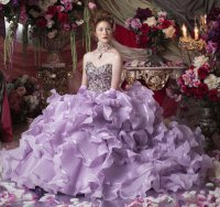 Gorgeous Lavender Ruffled Gown