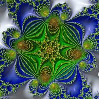 Green and Blue fractal