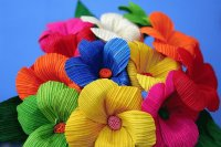 Crepe paper Flowers from Mexico