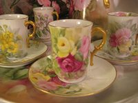 Antique Limoge French Tea Cups