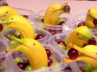 Fruitcup Dolphins from Bananas