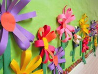 Paper Flowers made by Youngsters at School