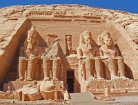 Abu Simbel Temple entrance  Egypt