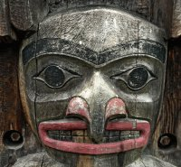 Part of a Totem Pole  Victoria  BC