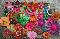 Plastic Mexican Brooch collection