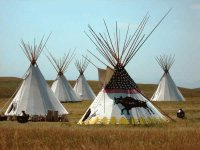Indian Tepees at Fort Macleod  Alberta