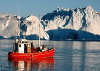 Icefjord at Ilulissat Greenland