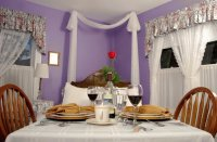 Romantic Purple Dining Room