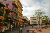 Square in Cartagena  Colombia