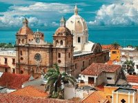 Church in Cartagena  Colombia