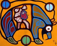 Grandfather Bear  Indian art