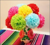 Tissue Paper Flowers  Mexico