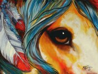 Horse Eye  native art