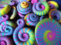 Colored Candy spirals