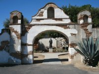 Entrance Mission San Miguel  California