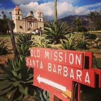 Old Mission Santa Barbara  California