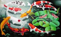 Balinese Koi Fish painting