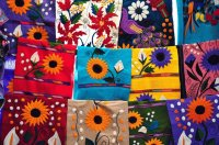 Table covers from Chiapas  Mexico