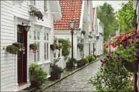 Street in Stavanger  Norway