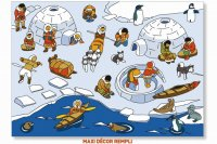 Talk plate North Pole at the Inuit School
