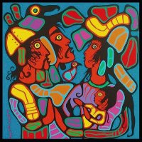 Native Canadian art by Norval Morrisseau