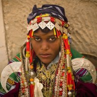 Lybian woman in traditional clothes