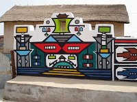 Ndebele wall around the House